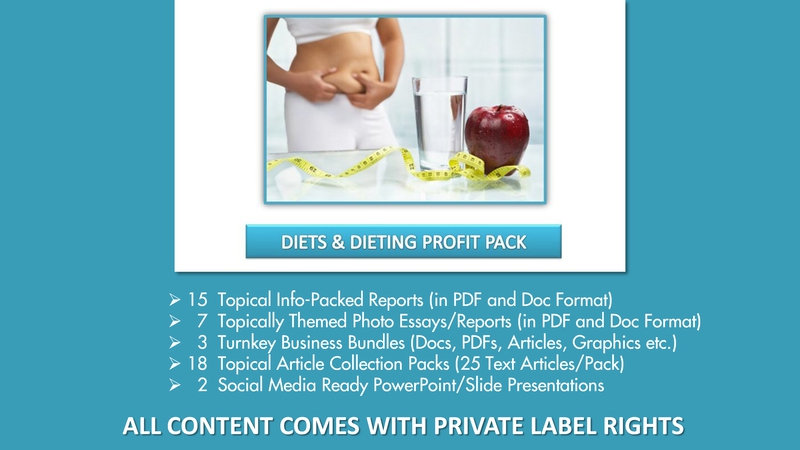 Diets and Dieting Private Label Content