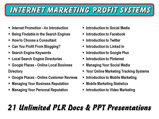 Internet Marketing Profit Systems