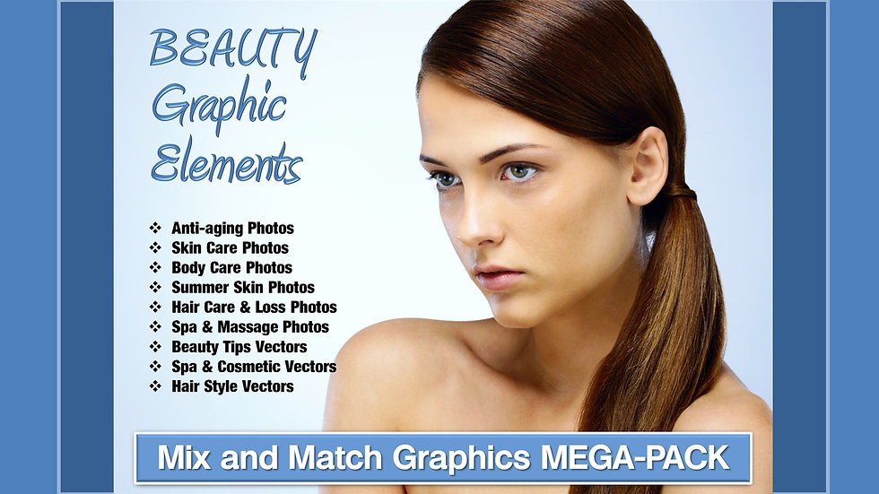 Beauty and Anti-Aging Mix and Match GRAPHICS Collection