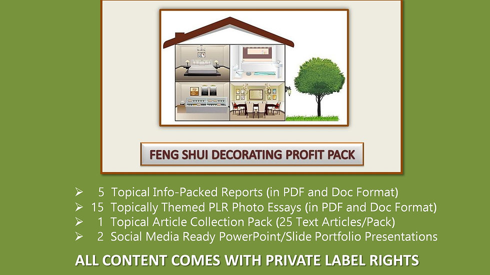 Feng Shui Decorating Private Label Profit Pack