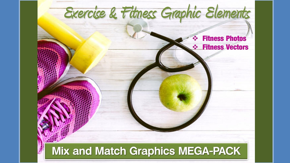 Exercise and Fitness Mix and Match GRAPHICS Collection