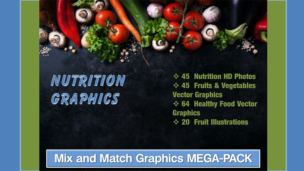 Nutrition Mix and Match GRAPHICS Collection