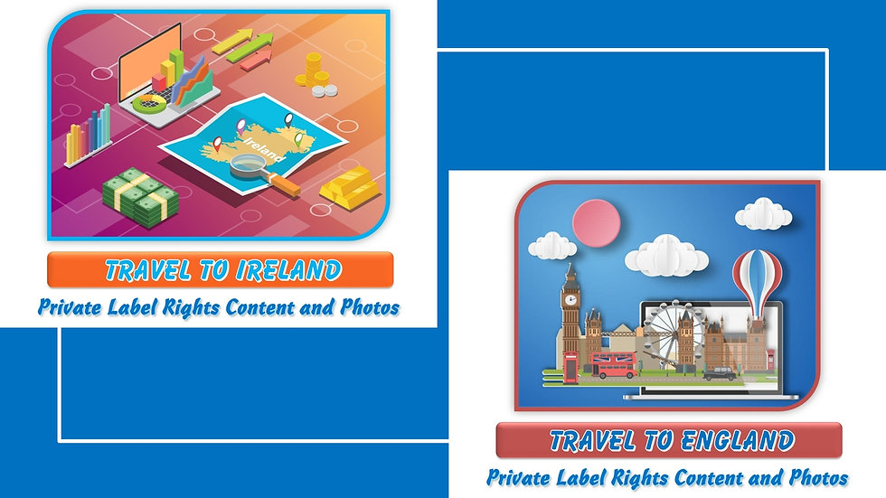Travel to Ireland and The United Kingdom Private Label Photo Essay Packs