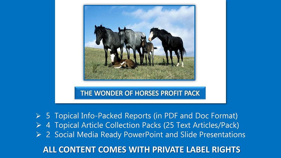 The Wonder of Horses PLR Profit Pack
