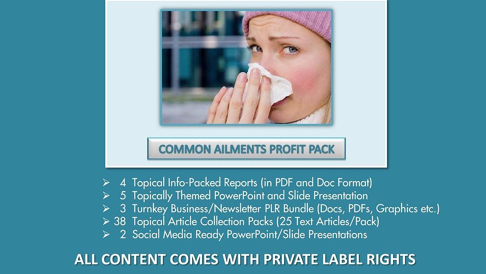 Common Ailments Private Label Profit Pack