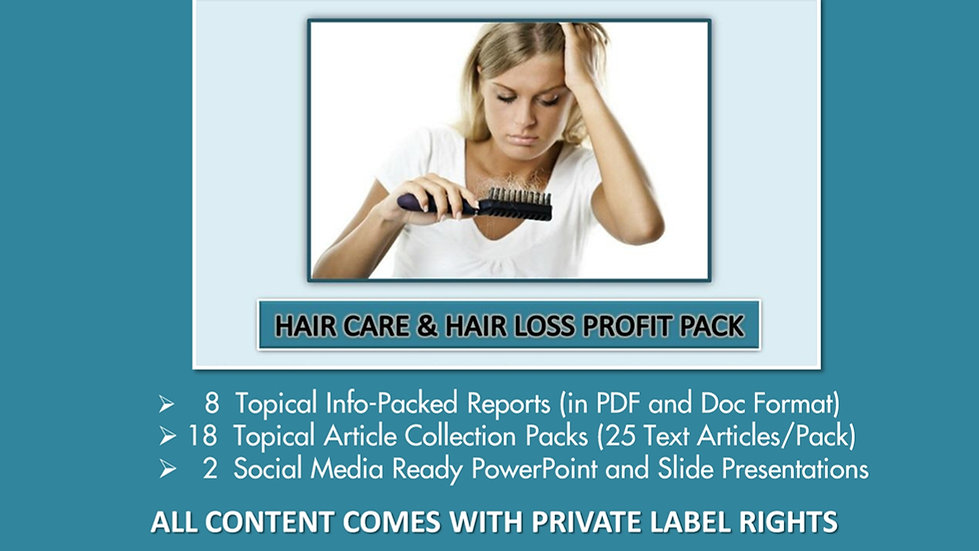 Hair Care and Hair Loss Private Label Profit Pack