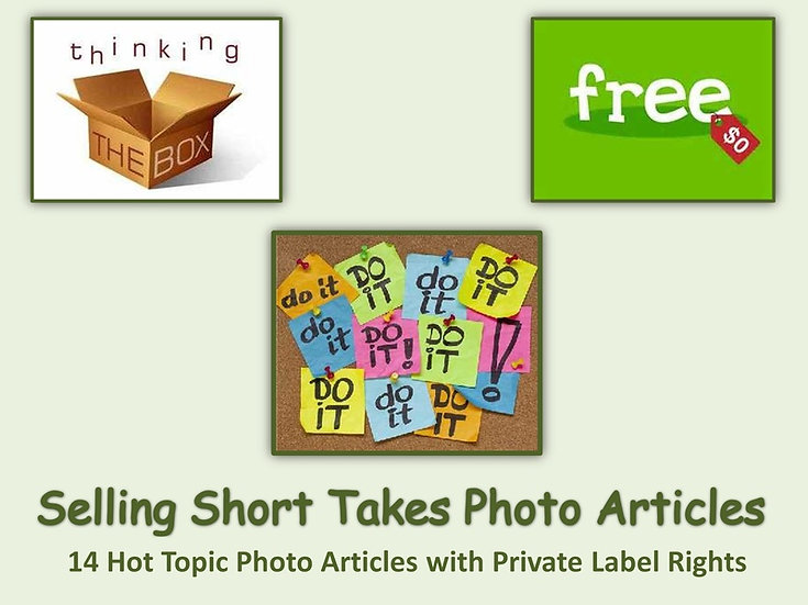 14 Selling Short Takes Photo Articles