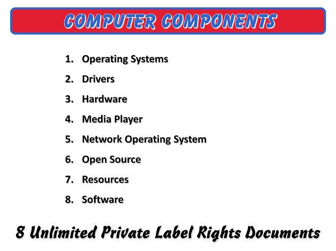 Computer Components PLR Content