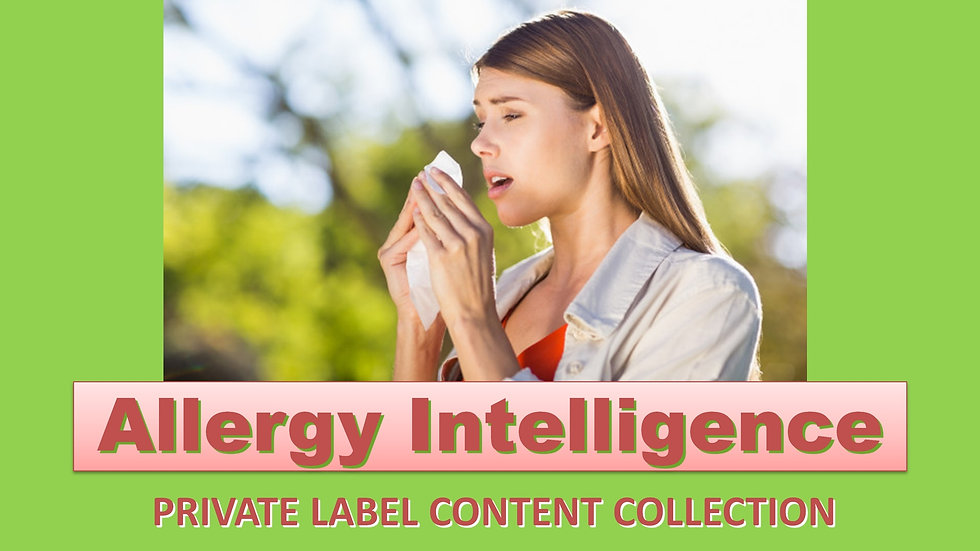 Allergy Intelligence PLR Product Pack