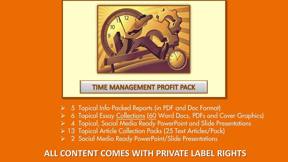 Time Management Private Label Profit Pack