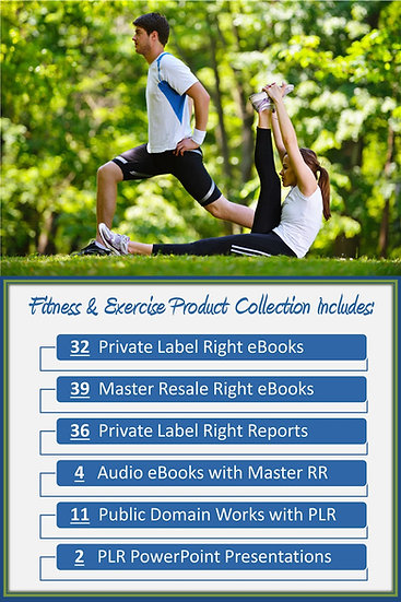 Fitness and Exercise Product Profit Packs