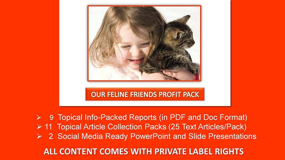 Our Feline Friends Private Label Profit Pack