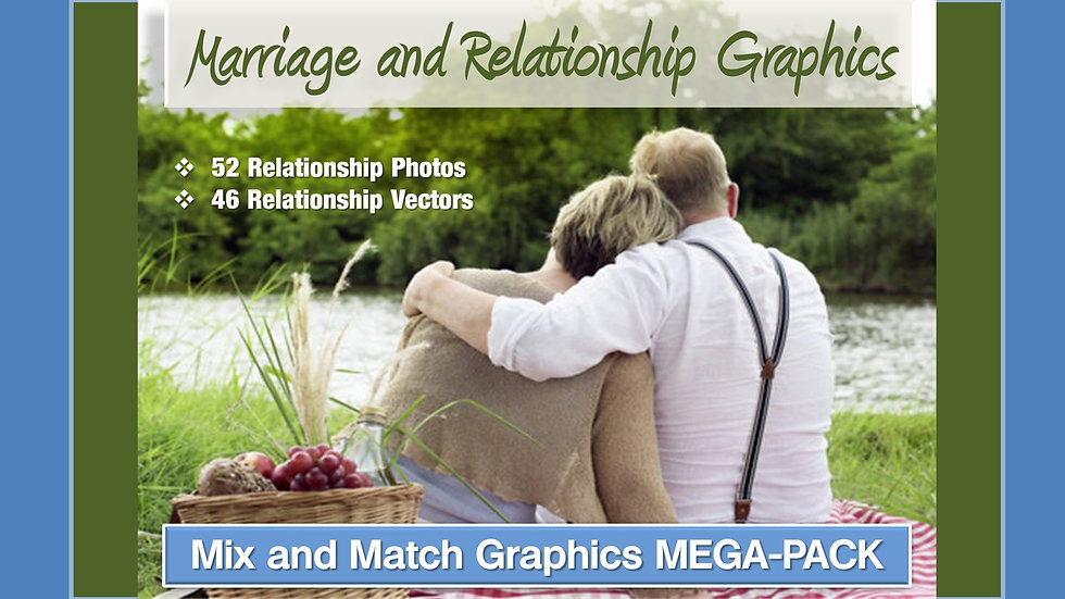 Marriage and Relationships Mix and Match GRAPHICS Collection