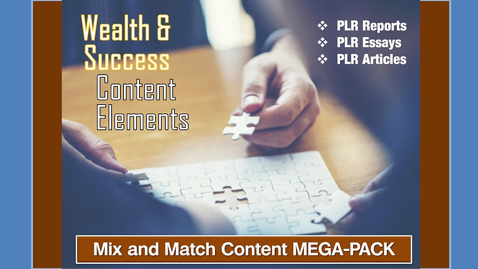 Wealth and Success Mix and Match CONTENT Collection
