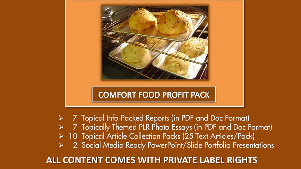 Comfort Food Private Label Profit Pack