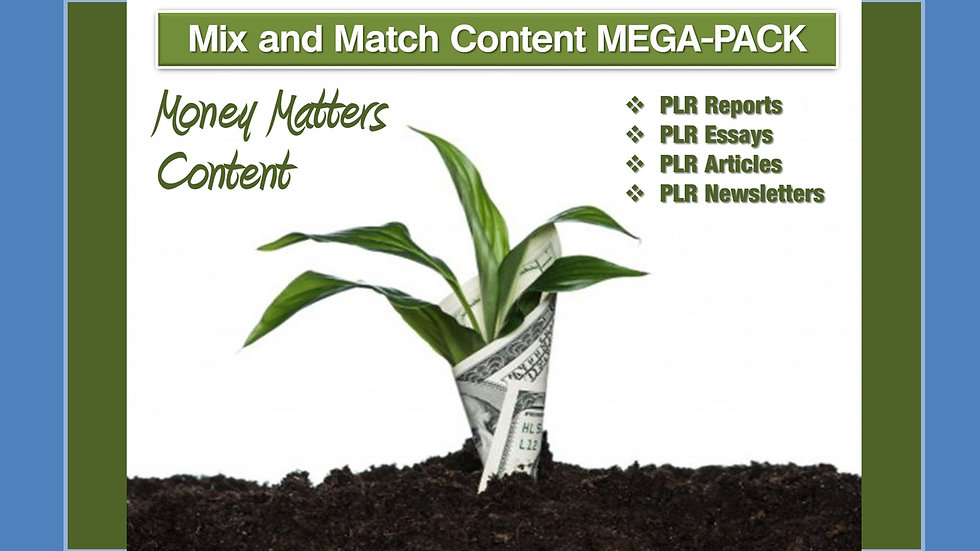 Money Matters Mix and Match CONTENT Collection