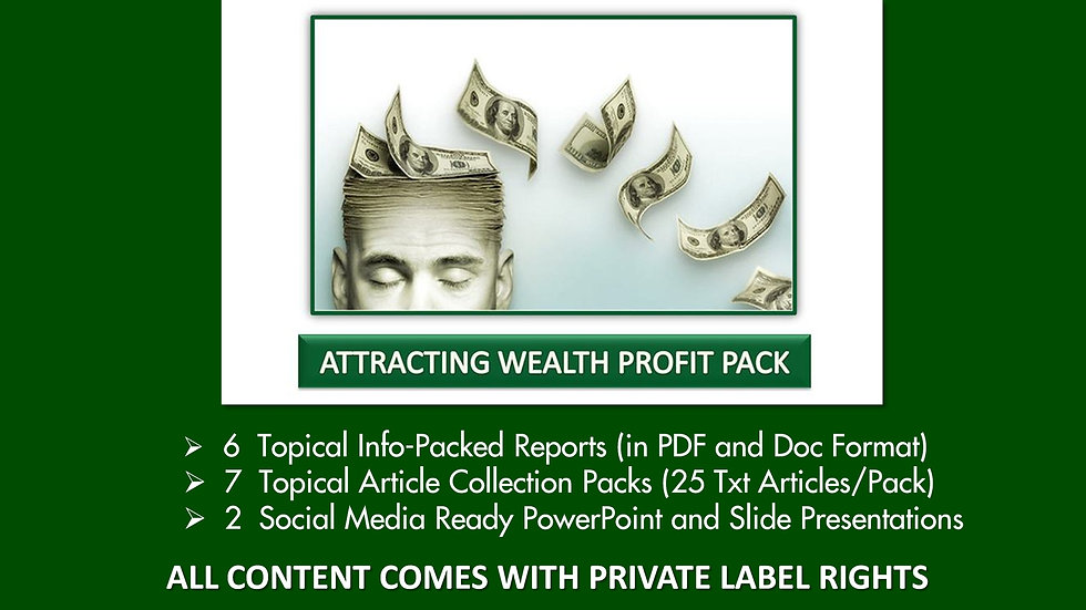 Attracting Wealth Private Label Profit Pack