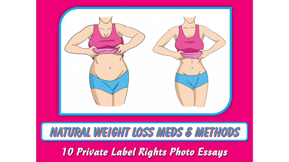 Natural Weight Loss Meds and Methods Private Label Content Pack