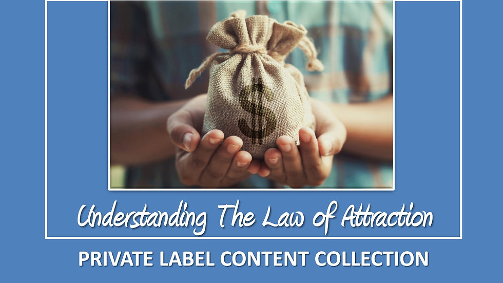 Understanding The Law of Attraction PLR Pack