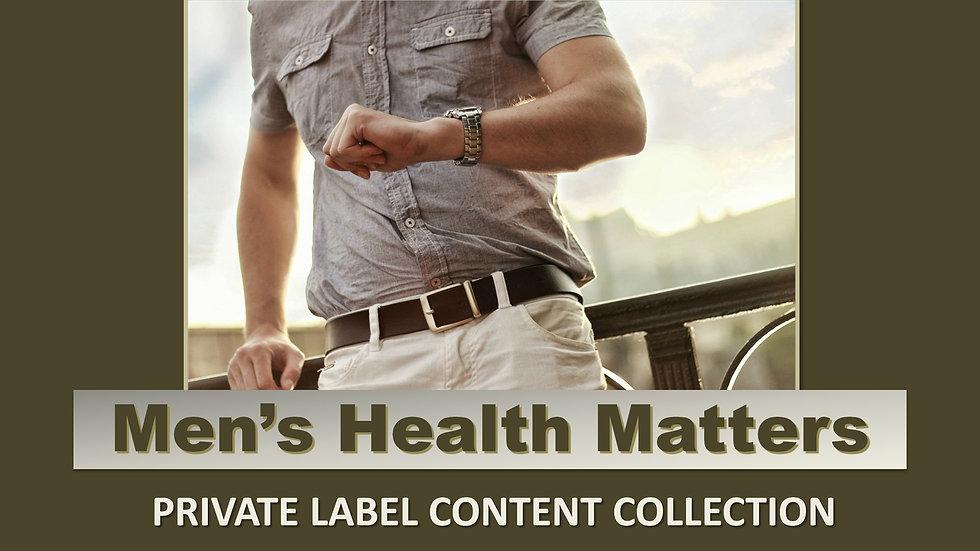 Men's Health Matters PLR Product Pack