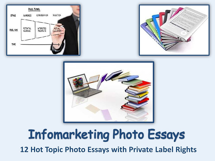 12 PLR Info-Marketing Photo Essays