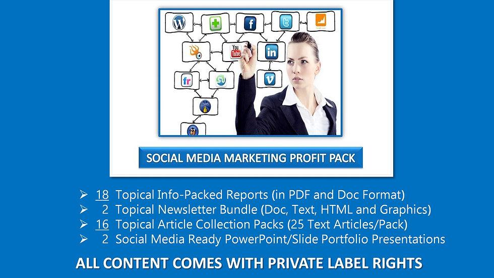 Social Media Marketing Private Label Profit Pack