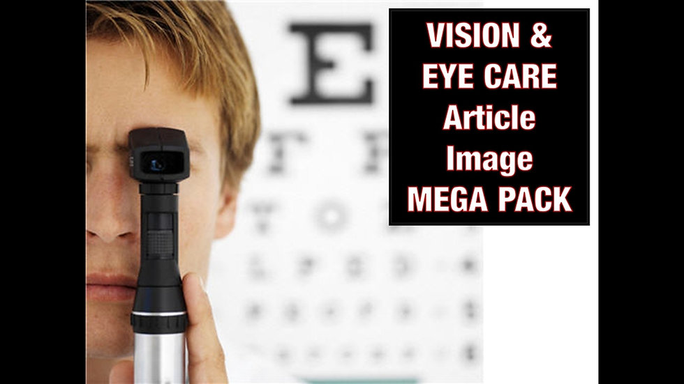 Vision and Eye Care PLR Article and Image MEGA Pack