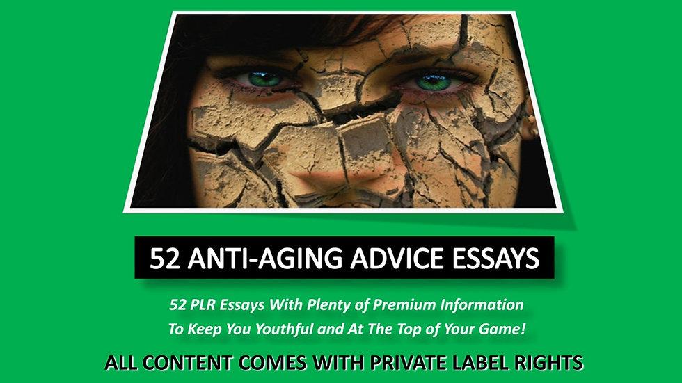 52 Anti-Aging Advice PLR Photo Essays