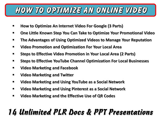 How to Optimize an Online Video