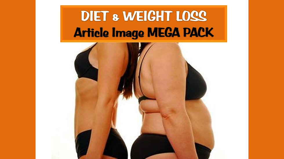 Diet and Weight Loss PLR Article and Image MEGA Pack