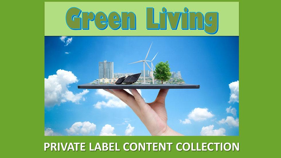 Green Living PLR Product Pack