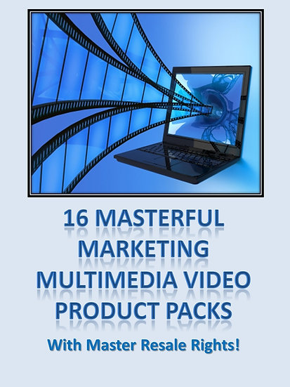 16 Masterful Marketing Multimedia Product Packs