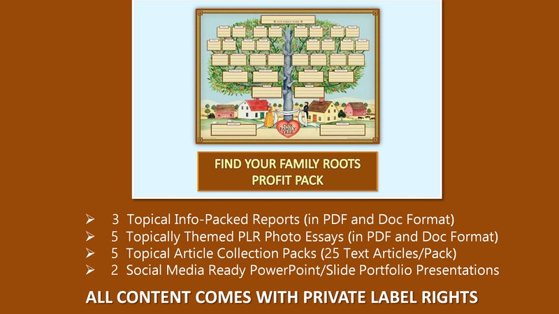 Find Your Family Roots Private Label Profit Pack