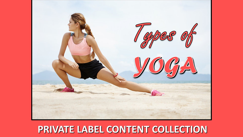 Types of Yoga PLR Product Pack