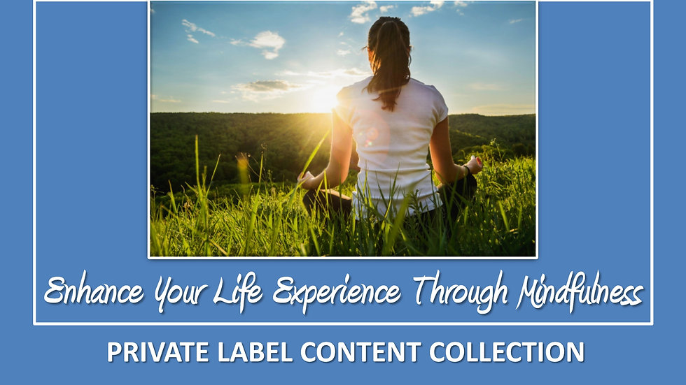 Enhance Your Life Experience Through Mindfulness PLR Pack