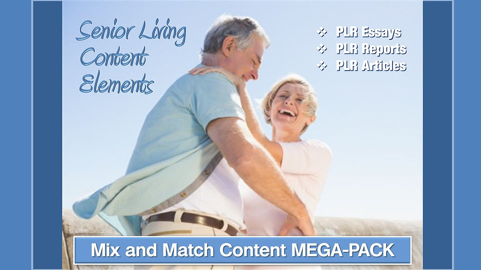 Senior Living Mix and Match CONTENT Collection