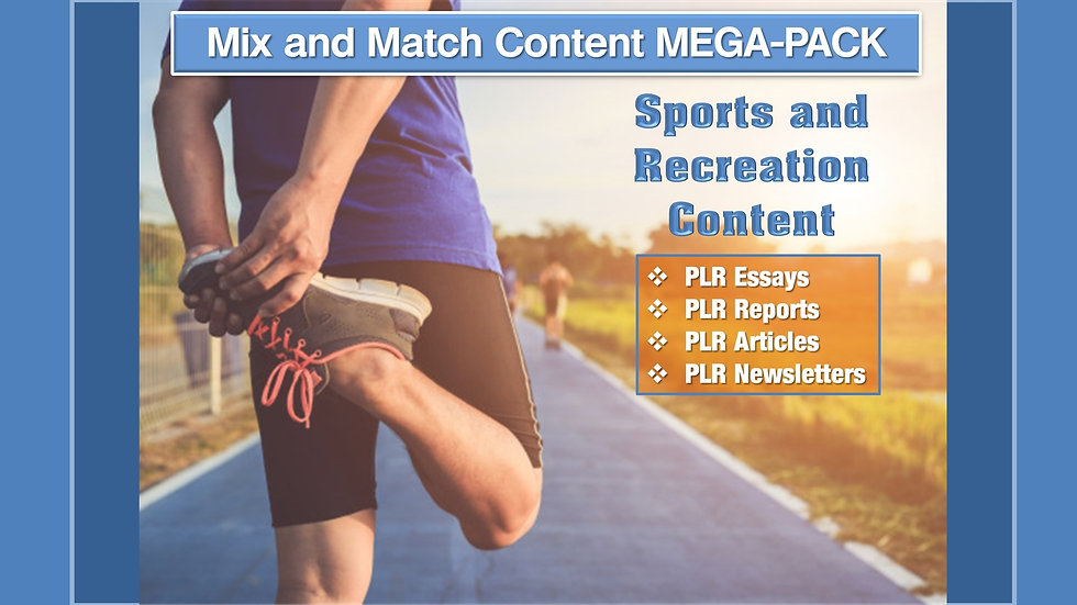 Sports and Recreation Mix and Match CONTENT Collection