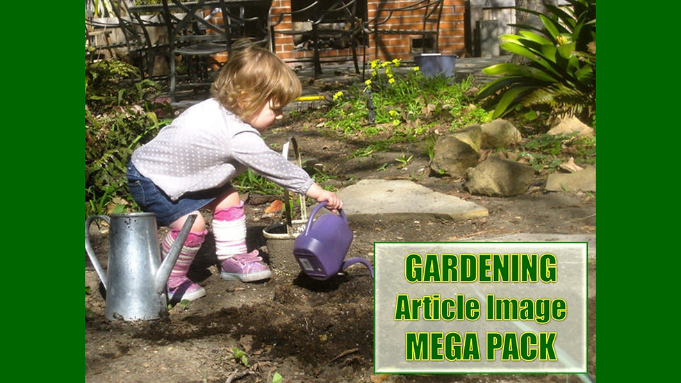 Gardening PLR Article and Image MEGA Pack