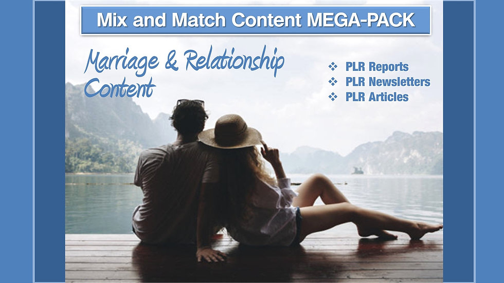 Marriage and Relationships Mix and Match CONTENT Collection