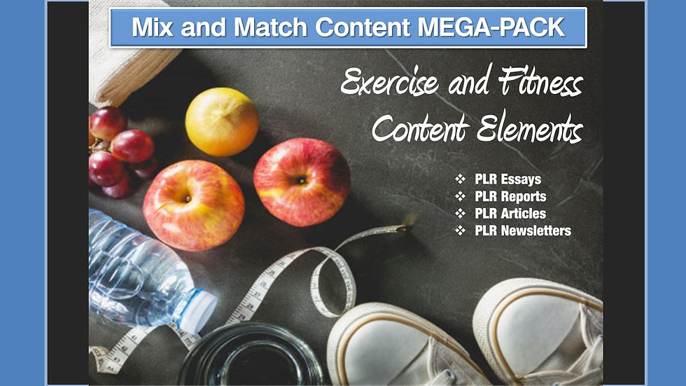 Exercise and Fitness Mix and Match CONTENT Collection