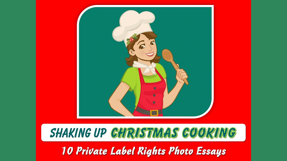 Shaking Up Christmas Cooking Private Label Content Pack