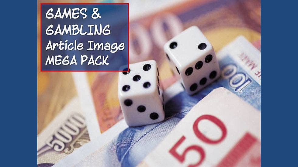Games and Gambling PLR Article and Image MEGA Pack