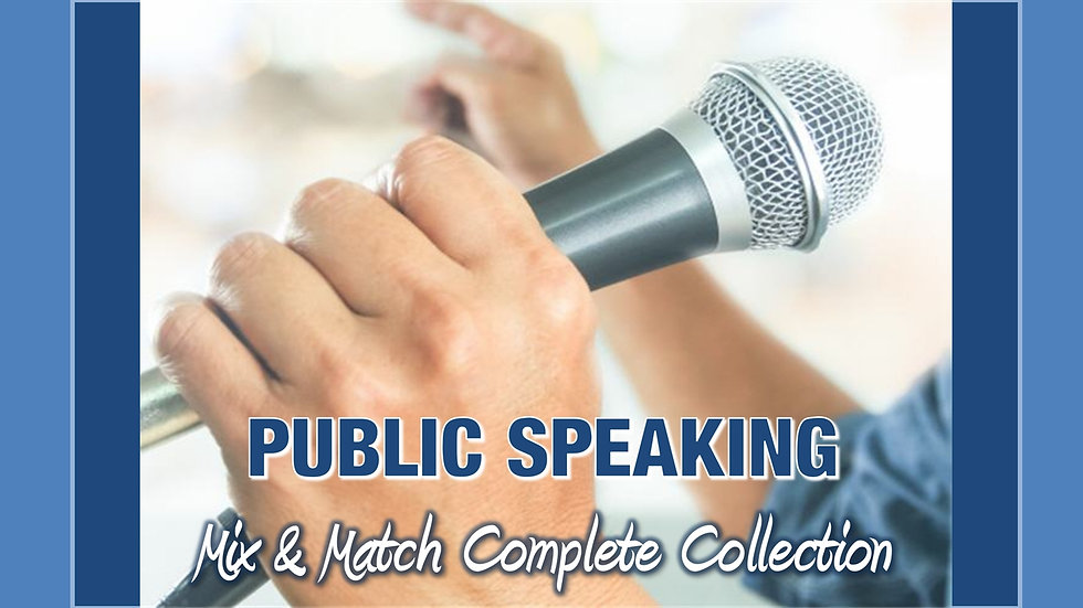 Public Speaking Mix and Match COMPLETE Collection