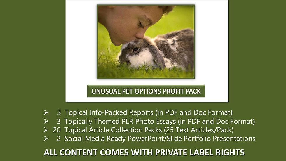 Unusual Pet Options Private Label Profit Pack