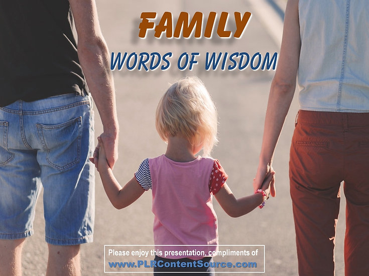 Family Words of Wisdom Video Quote Collection