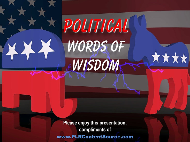 Political Words of Wisdom Video Quote Collection