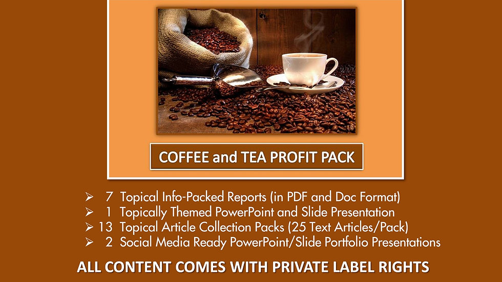 Coffee and Tea Private Label Profit Pack