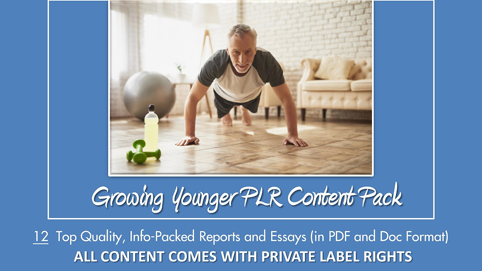 Growing Younger PLR Content Pack