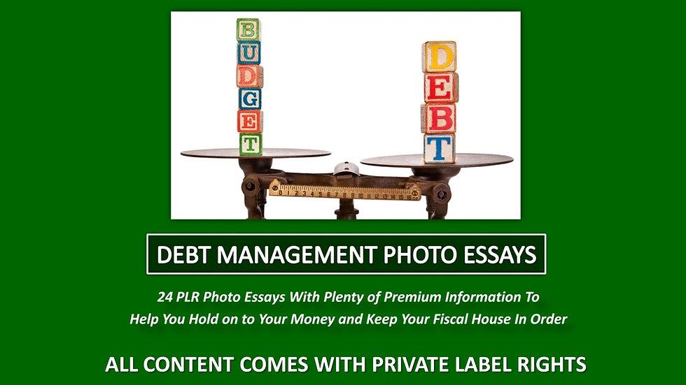 Debt Management Photo Essay Series
