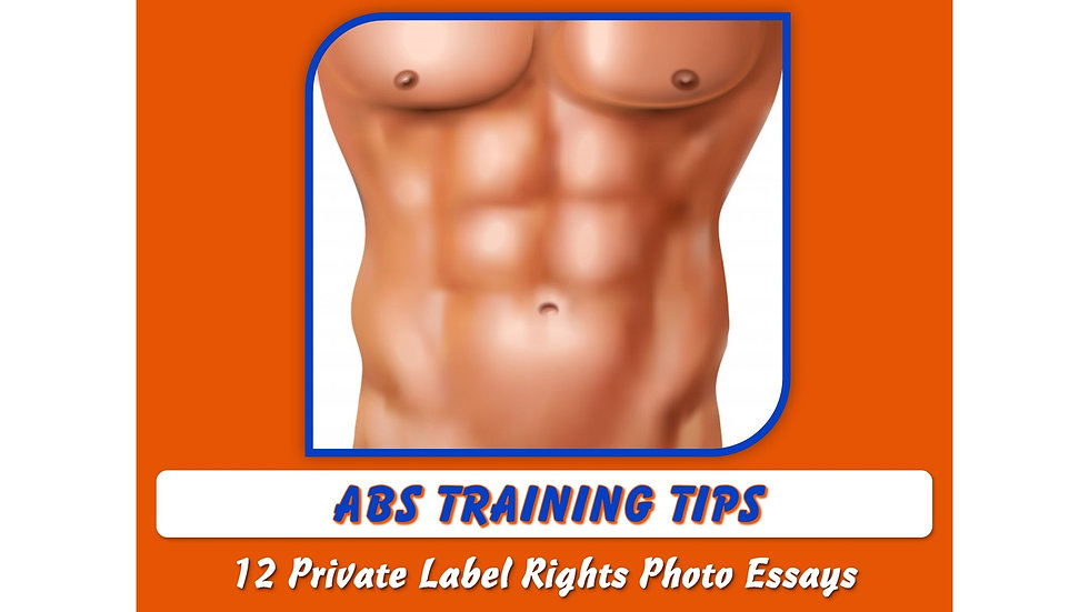 Abs Training Tips Private Label Content Pack
